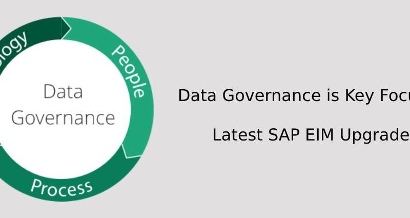 Data Governance is Key Focus of Latest SAP EIM Upgrades