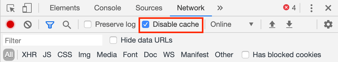 disable_cache